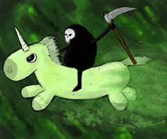 Unicorn Rider of Pestilence by Thebodypopper