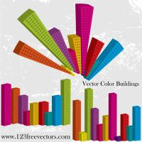 Vector Color Buildings by 123freevectors