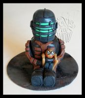 Pet Zombie - Dead Space Fanart Mini-Cake by CakeUpStudio