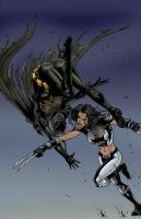 BAT VS X23 color by ColoristChris