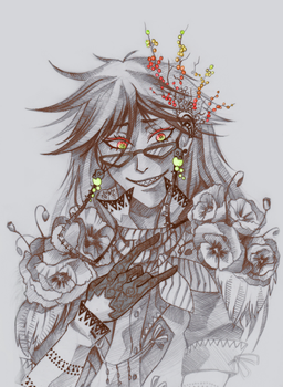 Poppies and Grell by Uruseline