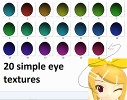 20 Simple Eye Textures Pack by Icon-Comission