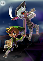 Dark Toon Link by Daboya