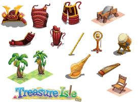 Treasure Isle Assets by westernphilosopher