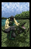 Crocmaster in color by JLWarner