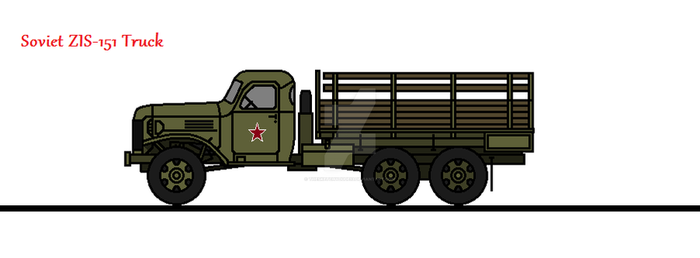 Soviet ZIS-151 Truck by thesketchydude13