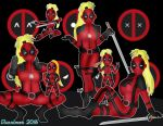 Lady Deadpool Character Collage by DannimonDesigns