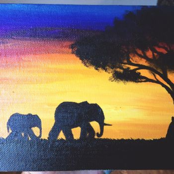 African sunset by sjcrossley