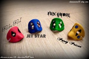 Killjoy Mask Rings by Dawnmoon13
