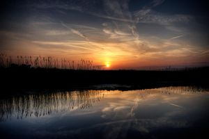 Romney Marsh Sunset by RaffertyEvans