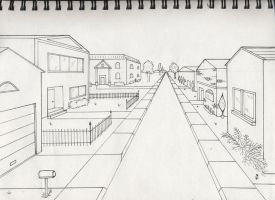 One point perspective exterior by timluv