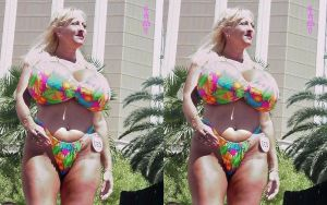 Maxi Mounds flower bikini 3d by 3dpinup