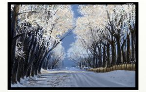 Winter Road by scratchmark