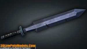 Sword #6 3D Low Poly | 3DLowPolyModels.Com by 3dlowpolymodels