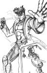 Gambit throws stuff at you by madd-sketch