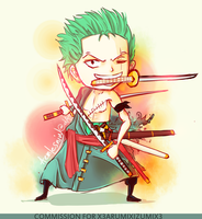 Commission: Zoro by AemLesniw