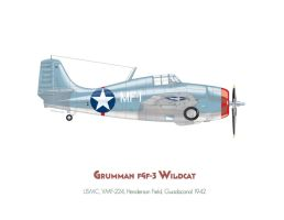 Grumman F4f-3 Wildcat by MercenaryGraphics