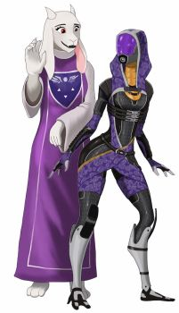 Tali and Toriel by spaceMAXmarine