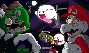 Trick or treat with Mario's gang by MT3spark