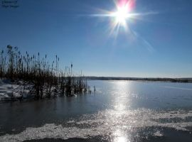Snowy Lake by GlimmerofHopeImages