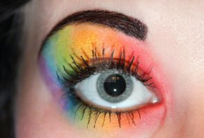 Rainbow eyeshadow by Creativemakeup