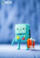 BMO from 'Adventure Time', amigurumi pattern by AradiyaToys