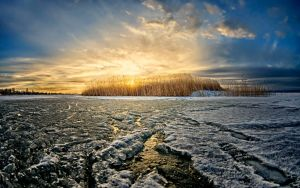 Walk at the frozen lake by Photoarus