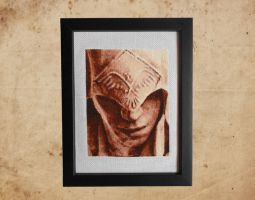 Connor Kenway - Cross Stitch 2 Framed by shingorengeki