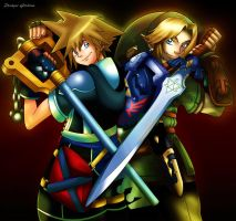 Link and Sora by DMGoodrum