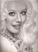 Christina Aguilera pearls by jardc87