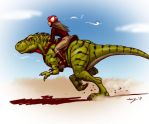 Dino Run in color by Dustmeat