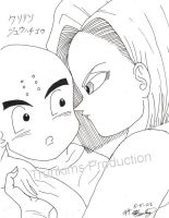Krillin and 18 by trunkims