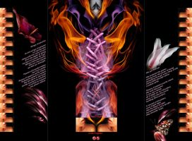 Wings of Passion -Triptych by cloistering