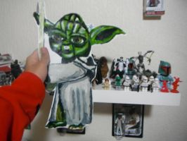 Yoda and part of my collection by TheSyFyFan