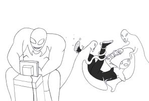 Surfing The Web! (sketch) by TKGEEK by neverb4