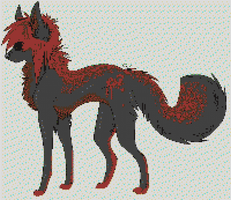 Pixel Wolf by BannerWolf