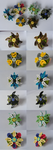 background mane six themed flower badges by coppy-cat