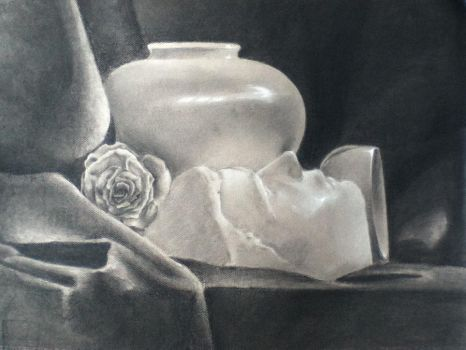Charcoal Still Life by jamieDEAR