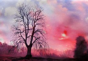 tree red blue01 by mariofdy
