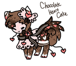 Chocolate Heart Cake Tranceling AUCTION by Celestial-Trance
