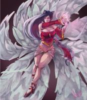 League of Legends - Ahri by Vohairan
