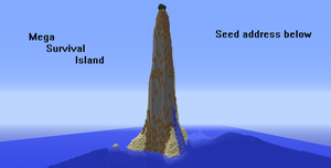 ~Mega Survival Island~Minecraft Seed~ by Xbox-DS-Gameboy