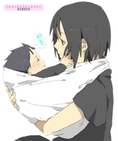 Itachi Uchiha and Sasuke Baby by Sakuradeikari