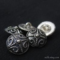 Silver Anglo-Saxon buttons by Sulislaw