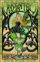 Green Fairy Art Nouveau Poster by nykofade