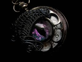 Blue Rose Creations - Custom Pocket Watch by LadyPirotessa