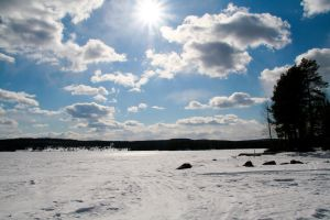 Blisterviken in April by dadion