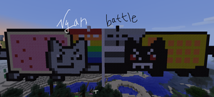 NYAN BATTLE!!! In Minecraft by Rikokitten