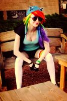 Rainbow Dash cosplay by PyroTemperTantrum