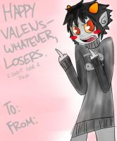 HAPPY VALENS-WHATEVER, LOSERS. by agalakachikaboum